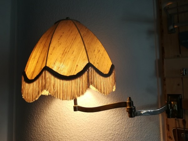 Vintage Gelenklampe Messing Art Deco